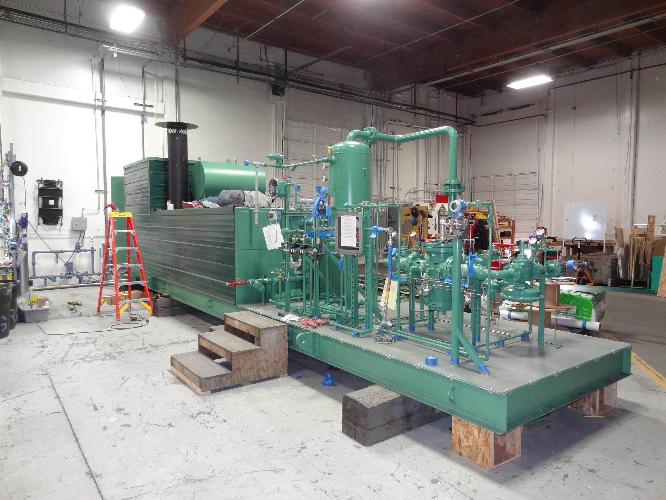 Система для производства синтетического природного газа